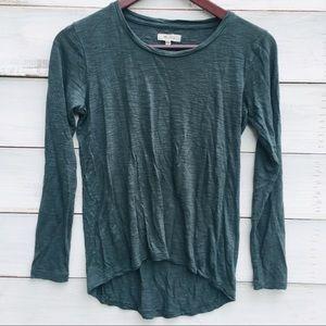 Madewell Dark Aqua Green Long Sleeve Top, XXS